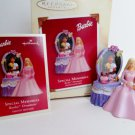 Hallmark 2003 Barbie Ornament Special Memories Christmas Vanity Photo Holder Pink and Purple