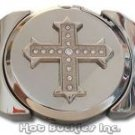 Rhinestone Cross Lighter Belt Buckle