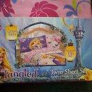 Disneys Tangled Rapunzel 4 Piece Twin Comforter and Sheet Set