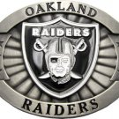 Licensed Oakland Raiders Belt Buckle and Necklace