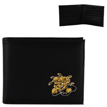 Wichita State Shockers Mens Black Leather Bifold Wallet