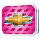 Chevy Licensed Pink Bowtie Belt Buckle