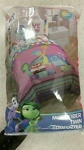 Disney Inside Out 4 Piece Twin/Single Size Bedding Comforter Sheet Set