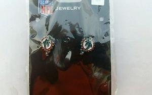 Miami Dolphins Stud Earrings