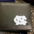 North Carolina Tarheels Mens Black Leather Bi-fold Wallet