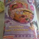 Nickelodeon Dora 4 Piece Twin/Single Size Comforter with Sheet Set
