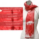 Arkansas Razorbacks Officialy Licensed Ncaa Fight Song Scarf