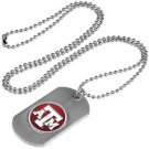 Texas A&M Aggies Dog Tag with a embedded collegiate medallion