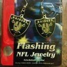 Oakland Raiders Nfl Dangle Flashing Earrings