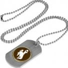 Wyoming Cowboys Dog Tag with a embedded collegiate medallion