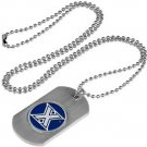 Xavier Musketeers Dog Tag with a embedded collegiate medallion