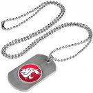 Washington State Cougars Dog Tag with a embedded collegiate medallion