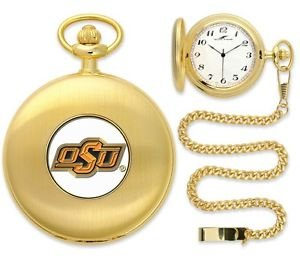 Oklahoma State Cowboys Officially Licensed Gold Pocket Watch