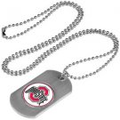 Ohio State Buckeyes Dog Tag with a embedded collegiate medallion