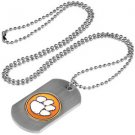Clemson Tigers Dog Tag with a embedded collegiate medallion