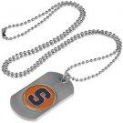 Syracuse Orangemen Dog Tag with a embedded collegiate medallion