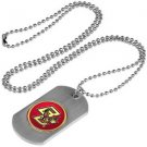 Boston College Eagles Dog Tag with a embedded collegiate medallion