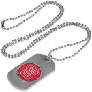 North Carolina NC State Wolfpack Dog Tag with a embedded collegiate medallion