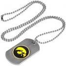 Iowa Hawkeyes Dog Tag with a embedded collegiate medallion
