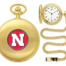 Nebraska Cornhuskers Officially Licensed Gold Pocket Watch