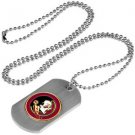 Florida State Seminoles Dog Tag with a embedded collegiate medallion