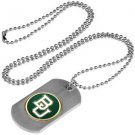 Baylor Bears Dog Tag with a embedded collegiate medallion
