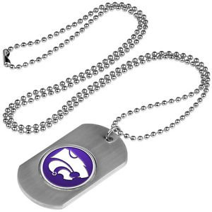 Kansas State Wildcats Dog Tag with a embedded collegiate medallion