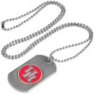 Houston Cougars Dog Tag with a embedded collegiate medallion
