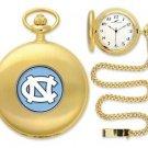 North Carolina Tar Heels Officially Licensed Gold Pocket Watch