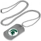 Michigan State Spartans Dog Tag with a embedded collegiate medallion