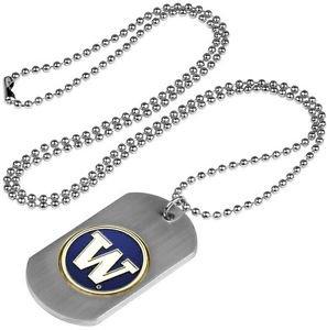Washington Huskies Dog Tag with a embedded collegiate medallion