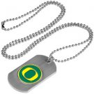 Oregon Ducks Dog Tag with a embedded collegiate medallion