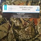 Mainstays Twin Size Microfiber Camo Sheet Set