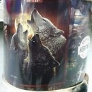 Wolf Trinity Howling American Heritage Woodland Plush Raschel Throw blanket