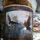 Eagles Flying High American Heritage Woodland Plush Raschel Throw blanket
