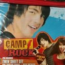 Camp Rock Demi Lovato Jonas Brothers Twin Size Bedding Sheet Set
