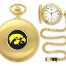 Iowa Hawkeyes Officially Licensed Gold Pocket Watch
