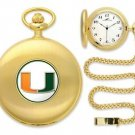 Miami Hurricanes Officially Licensed Gold Pocket Watch
