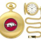 Arkansas Razorbacks Officially Licensed Gold Pocket Watch