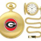 Georgia Bulldogs Officially Licensed Gold Pocket Watch