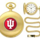 Indiana Hoosiers Officially Licensed Gold Pocket Watch