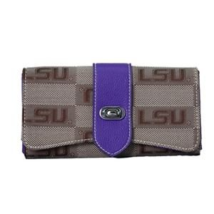 LSU Louisiana State Tigers Signature Wendy Wallet