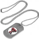 Texas Tech Red Raiders Dog Tag with a embedded collegiate medallion
