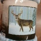 Deer in the Snow American Heritage Woodland Royal Plush Raschel Throw blanket
