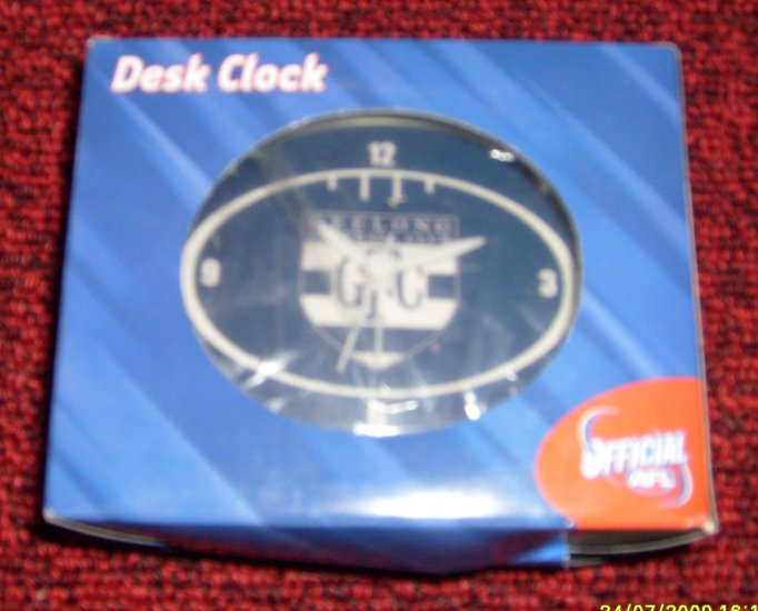 AFL DESK CLOCK - GEELONG CATS