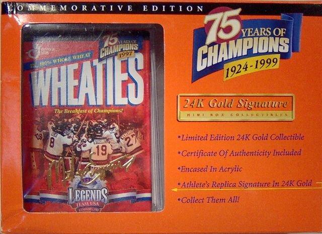 USA Gold Medal Hockey Mini Wheaties Box