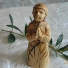 Olive Wood Kneeling Child