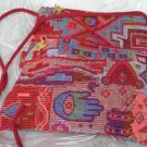 Triangle - Ethnic Red/Pink Hamsa Pattern Bag Purse Handbag