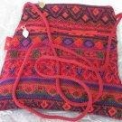 Triangle - Ethnic Red/Orange  Pattern Bag Purse Handbag