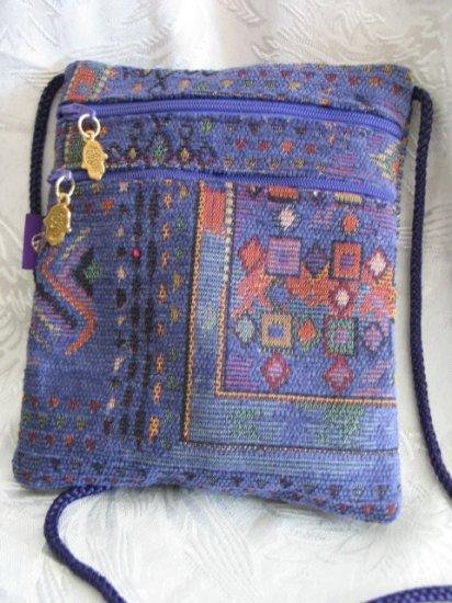 Square - Chenille Purple Purse Handbag Tote Sling Bag